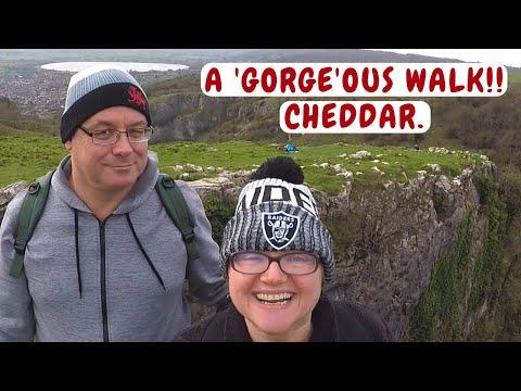 CHEDDAR GORGE CLIFFTOP CIRCULAR WALK. Cheddar campervan trip. Nov- 2017.