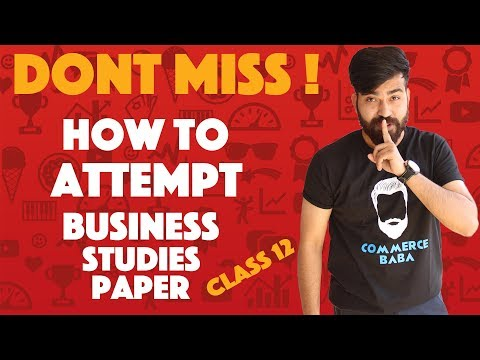 Don't Miss - How to attempt Business Studies Paper#teamcommercebaba