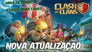 Clash Of Clans - NOVA ATUALIZAÇÃO, MINA DE GEMAS?, NOVO MODO DE JOGO