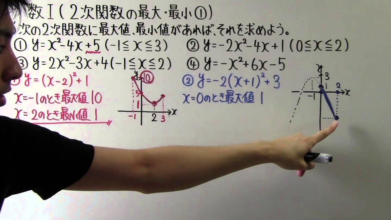 高校数学】数Ⅰ-42 2次関数の最大・最小 ① - YouTube