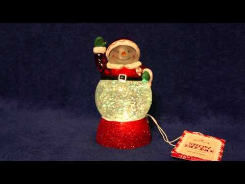 2013 Hallmark Snow HO HO snow globe changes colors