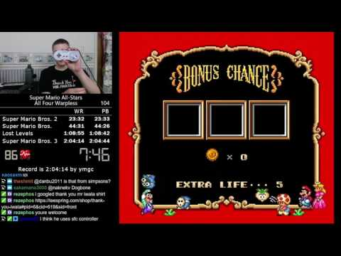 (2:03:35) Super Mario All-Stars All Four Warpless speedrun *Former World Record*
