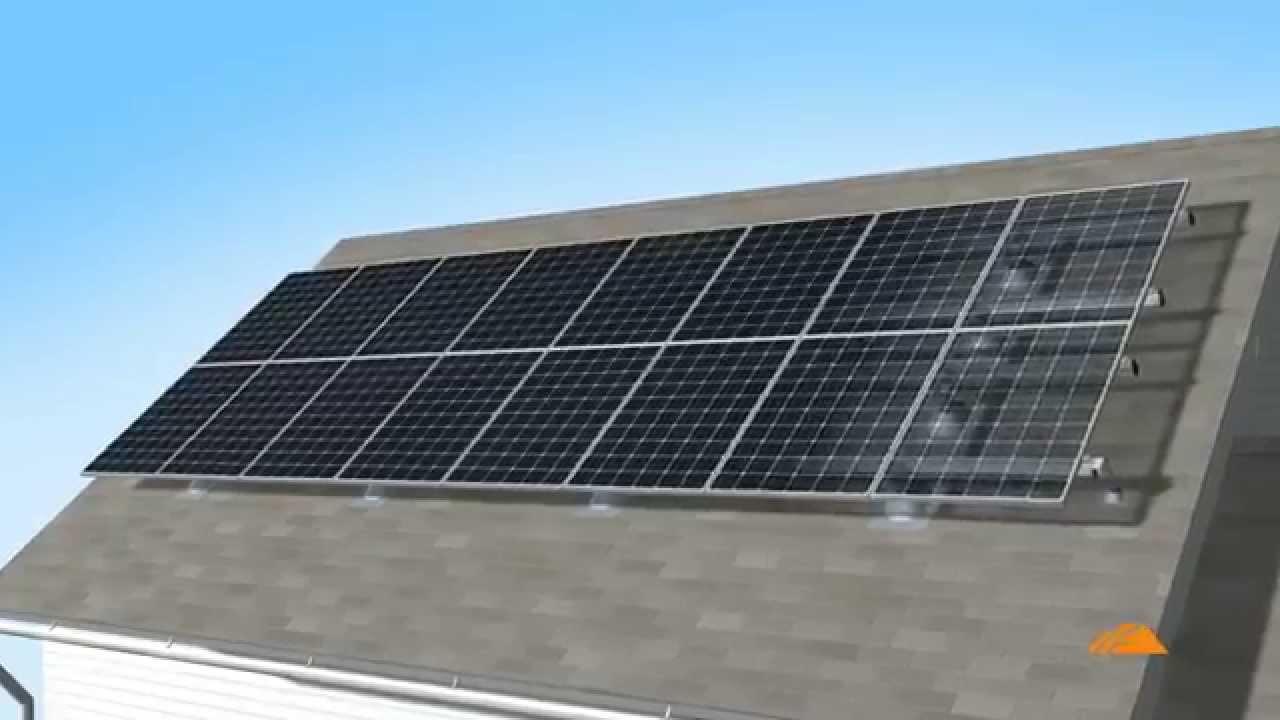Bases Para Paneles Solares Youtube