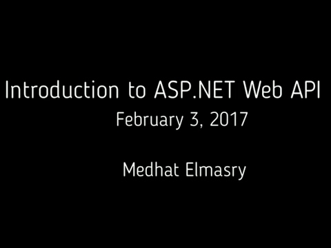 Introduction to ASP.NET Web API with C# and Visual Studio 2015