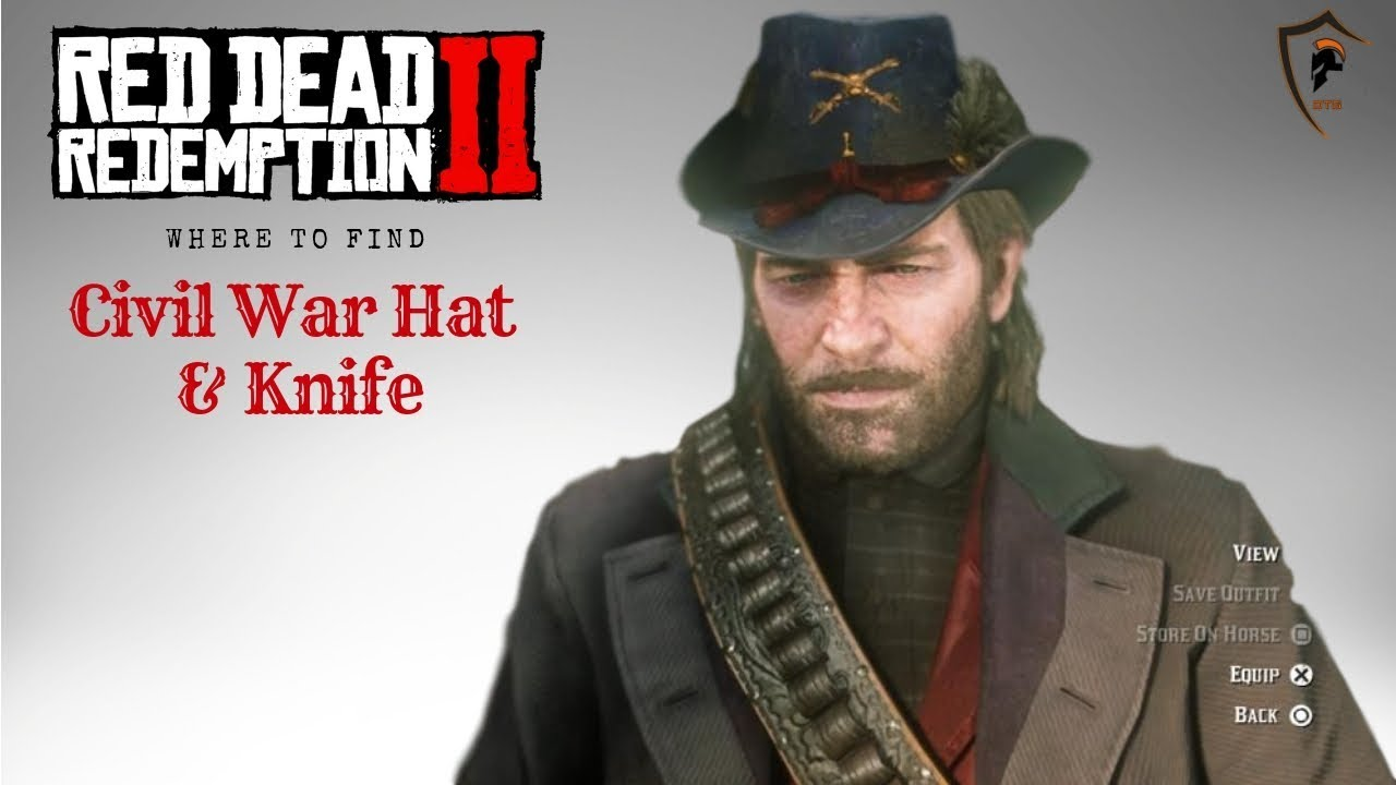 f8c92f07b1 Civil War Army Cavalry Hat and Civil War Knife Location in Red Dead  Redemption 2