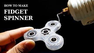 How to make FIDGET SPINNER using GLUE GUN