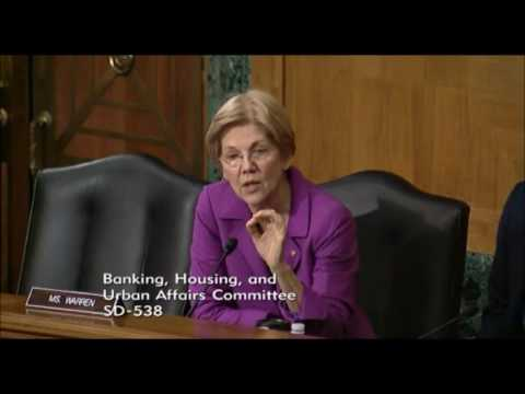 Senator Elizabeth Warren - Regulation of Payday Loans