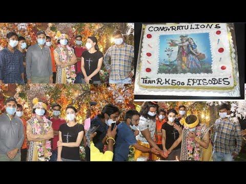 Star Bharat Radha Krishn Serial Completed 500 Episode ! See Celebration on Set Video!Sumedh,Mallika!