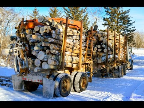 MANITOBA WOOD DELIVERY LOGLIFT TRI-J INDUSTRIES