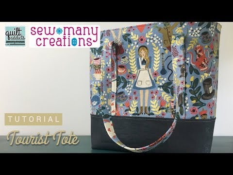 How To Sew An Easy Tote Bag That Carries EVERYTHING! Tourist Tote Pattern By Sew Many Creations