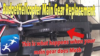 How to replace the Main Gear in the WLToys V950 Helicopter