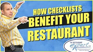 Restaurant Management Tip - How to Make Restaurant Checklists Work for You #restaurantsystems