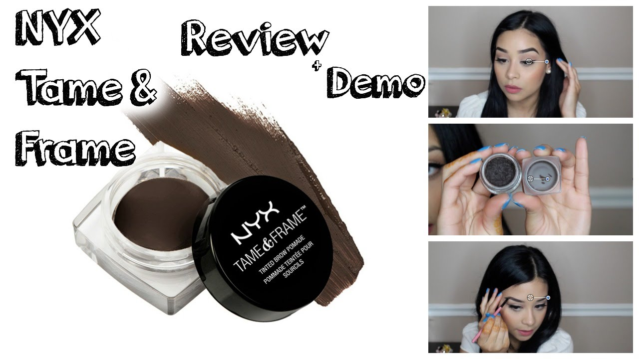 Nyx Tame Amp Frame Brow Pomade Demo Review Youtube
