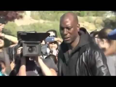 Actor Tyrese Gibson LLORA en Lugar Choque de PAUL WALKER ...