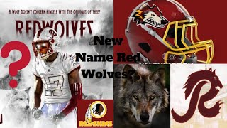 Why The Redskins Should Pick Red Wolves As Their New Name! Red Wolves Uniform And Logo Designs!