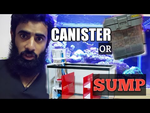 CANITER FILTER VS SUMP FOR REEF TANK HINDI /URDU