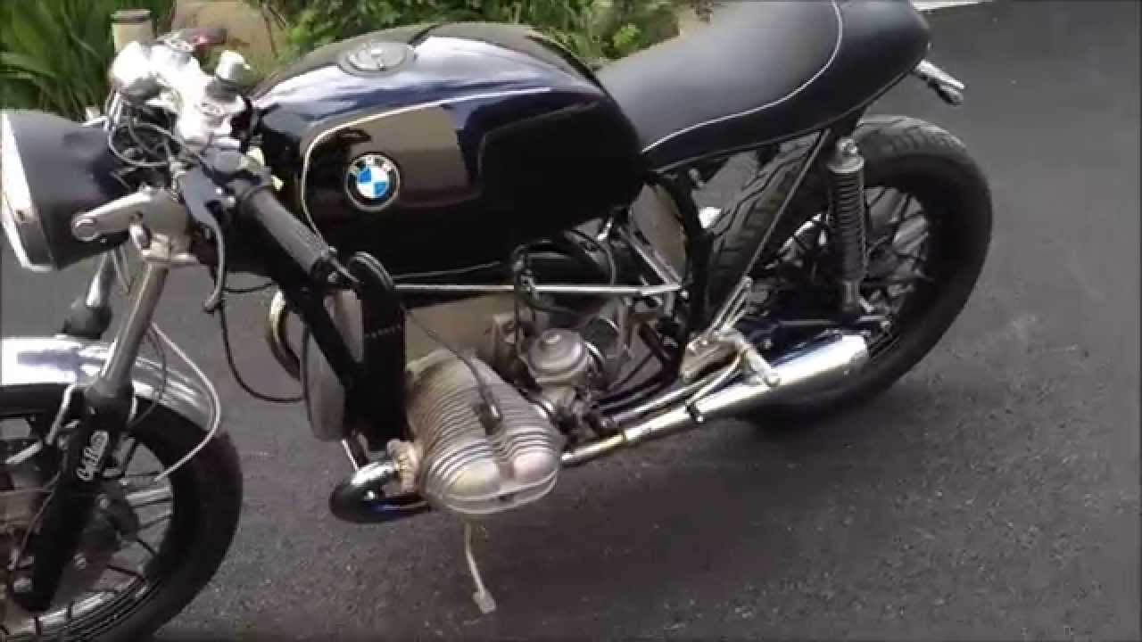 bmw r100/7 caféracer with megaton exhaust - youtube