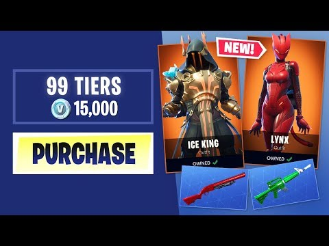 Buying Every SEASON 7 BATTLE PASS Tier in Fortnite Battle Ro