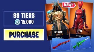 Buying Every SEASON 7 BATTLE PASS Tier in Fortnite Battle Royale