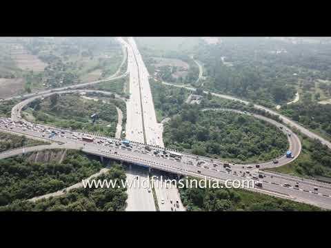 Flying over Raj Ghat