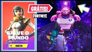ITEMS and SAVE the FREE WORLD + ROBOT DEFENDER at FORTNITE!