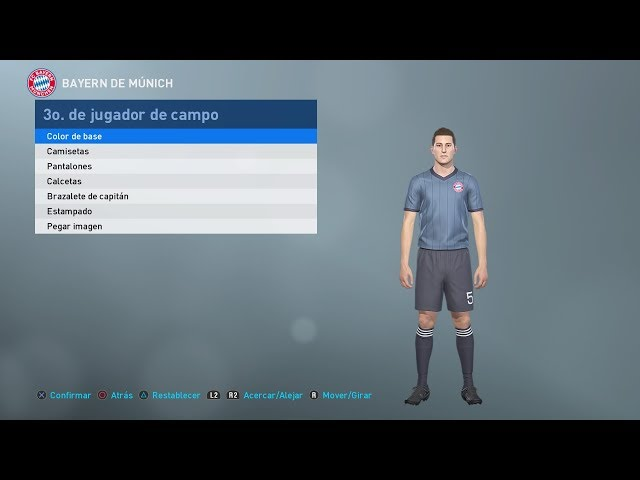 Pes 2019 - Uniforme Alternativo Bayern de Múnich
