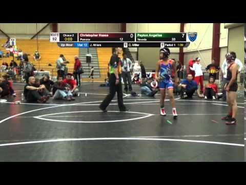 Dual #16 - 92 LBS - Christopher Haase (Pomona) vs. Peyton Angelias (Nevada)