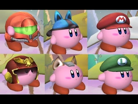 Kirby Super Smash Bros All Kirby Hats and Pow...
