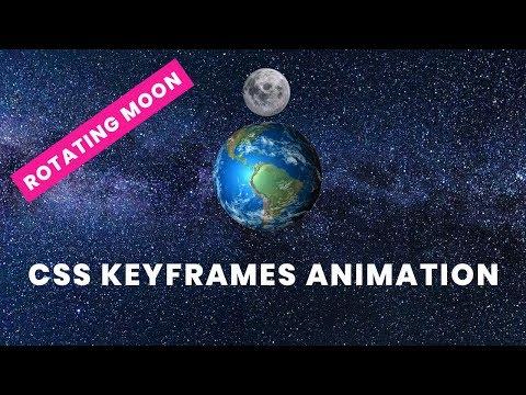 Rotate moon around earth | CSS Keyframes Animation Example