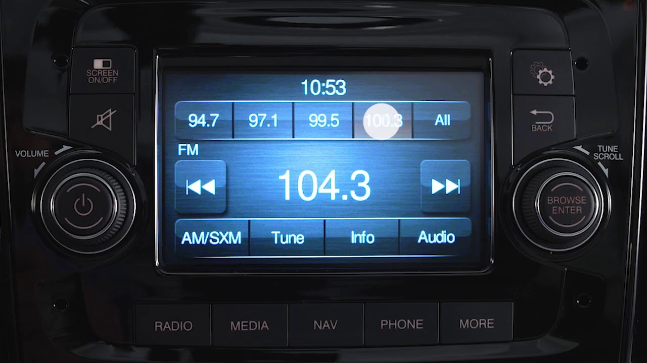 Uconnect 3/3 NAV with 5 inch display - Radio and media connections for 2018  Ram ProMaster City
