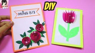 2 Cách làm thiệp mừng ngày 8/3 dễ làm/ How to make easy Woman Day's cards