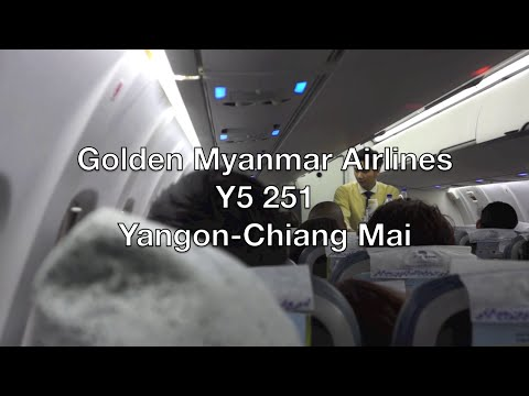 Golden Myanmar Airlines ATR 72-600 Flight Report: Y5 251 Yangon to Chiang Mai