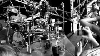 Robo-drummer at trash city, glastonbury 2009