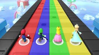 Super Mario Party - Minigames - Mario vs Luigi vs Peach vs Rosalina (Master CPU)