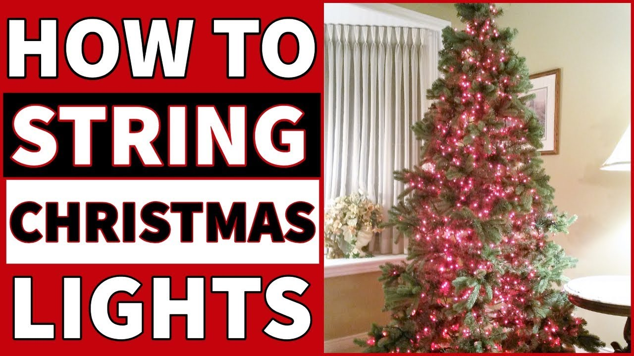 How To String Lights on an Artificial Christmas Tree
