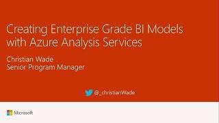 Creating enterprise grade BI models with Azure Analysis Services