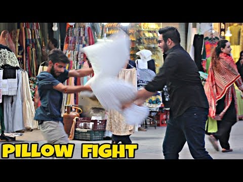 Pillow Fight With Strangers | Prank In Pakistan