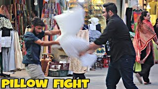 Pillow Fight With Stranger's | Prank In Pakistan