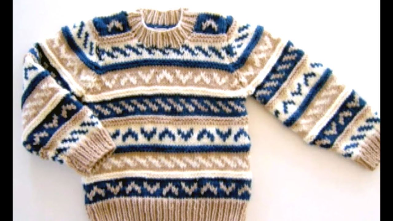 4cd258fba How to knit a sweater with knitting needles Free Fair Isle Pattern ...
