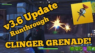 *NEW CLINGER GRENADE!* v3.6 Patch Notes (Fortnite BR Update)