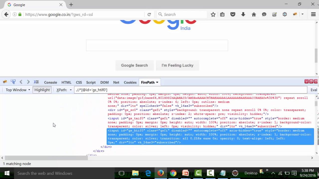 Creating Customized CSS Selector Without Firebug   Selenium Webdriver  Training   Selenium Course