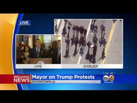 Mayor Garcetti Urges Safe Protests Los Angeles California
