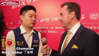 2016 snooker shanghai masters champion ding junhui interview