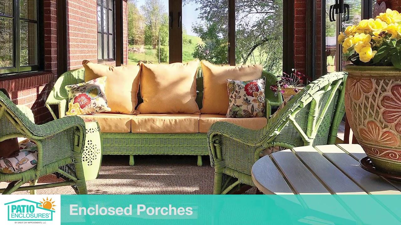View Enclosed Porch And Patio Ideas Patio Enclosures Youtube