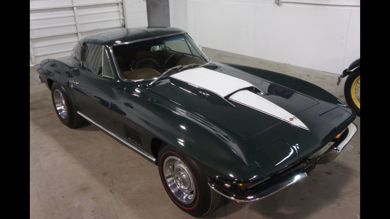 1967 corvette coupe for sale big block 427 390 4 speed matching numbers beautiful youtube. Black Bedroom Furniture Sets. Home Design Ideas