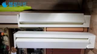 코너 원목 회전 장식장(35000원)