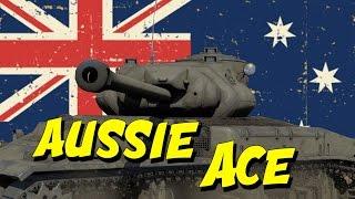 War Thunder Aussie ACE   Thunderbolt Australian Tank Gameplay