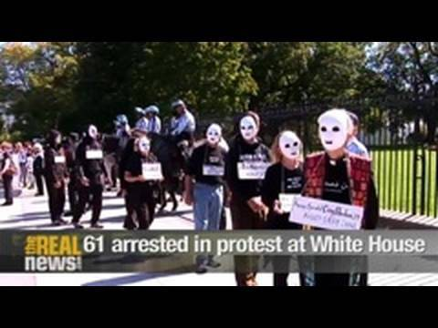 61 arrested in protest at White House