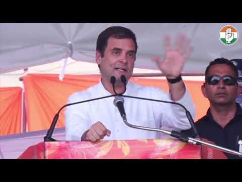 Congress President Rahul Gandhi addresses public meeting in Una, Himachal Pradesh