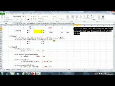Chia Sẻ File Excel Đồ Án Bê Tông Cốt Thép 2